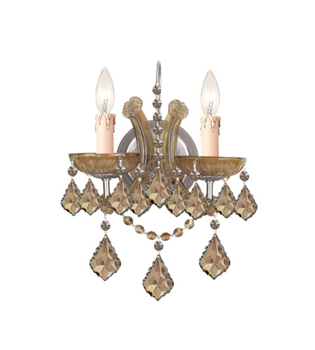 Crystorama Maria Theresa 2 Light Wall Sconce in Antique Brass 4472-AB-GT-MWP photo