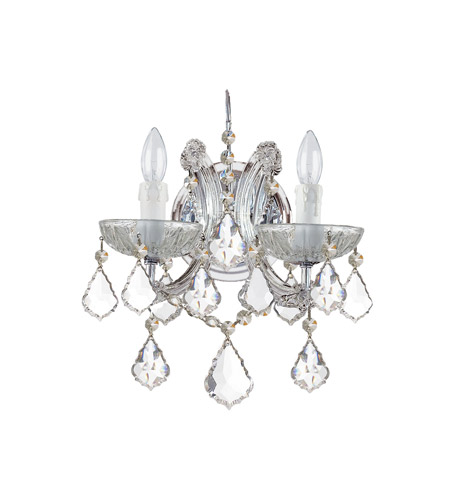 Crystorama 4472-CH-CL-MWP Maria Theresa 2 Light 11 inch Polished Chrome Wall Sconce Wall Light in Clear Crystal (CL), Hand Cut, Polished Chrome (CH) photo