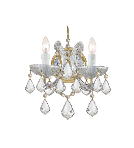 Crystorama 4472-GD-CL-S Maria Theresa 2 Light 10 inch Gold Wall Sconce Wall Light in Clear Crystal (CL), Swarovski Elements (S), Gold (GD) photo