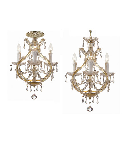 Crystorama Maria Theresa 4 Light Flush Mount in Gold with Hand Polished Crystals 4473-GD-CL-MWP_FLUSH photo