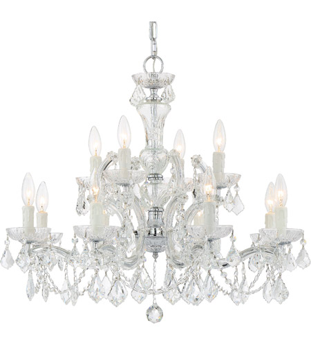 Crystorama 4479-CH-CL-MWP Maria Theresa 12 Light 29 inch Polished Chrome Chandelier Ceiling Light in 5, Clear Crystal (CL), Hand Cut, Polished Chrome (CH) photo