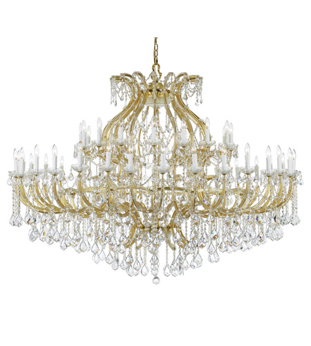 Crystorama Maria Theresa 48 Light Chandelier in Gold 4480-GD-CL-SAQ photo