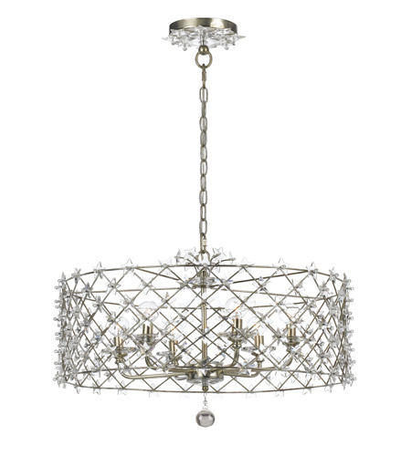 Crystorama Willow 6 Light Chandelier in Antique Silver 449-SA photo