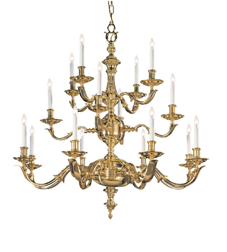 Crystorama Colonial 16 Light Chandelier in Polished Brass 450-PB photo