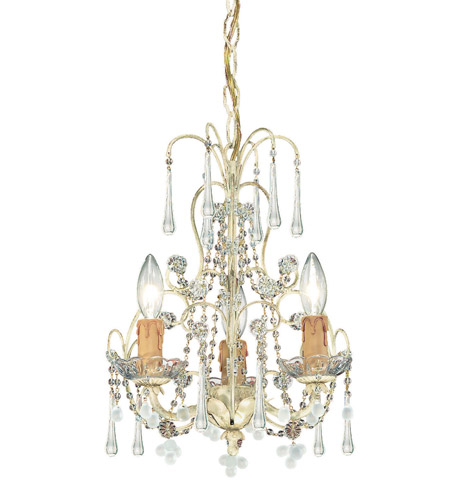 Crystorama Ella 3 Light Mini Chandelier in Champagne 4523-CM photo