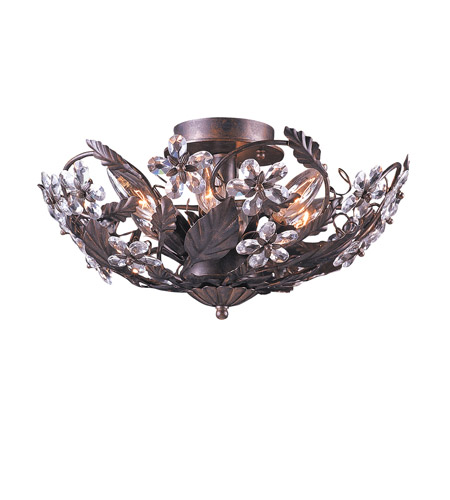 Crystorama Primrose Semi-Flush Mount in Dark Rust 4600-DR photo