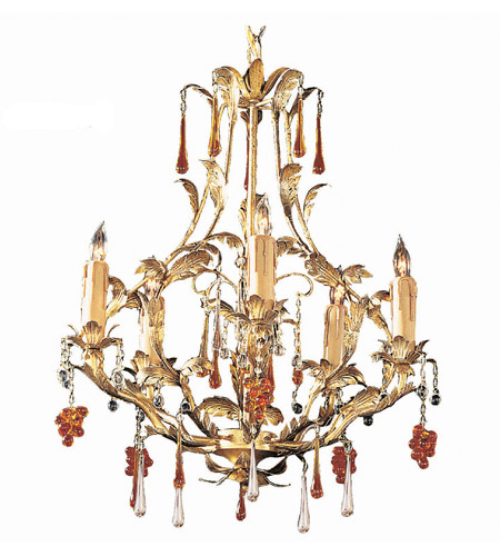 Crystorama Ritz 5 Light Mini Chandelier in Gold Leaf 4605-GL photo