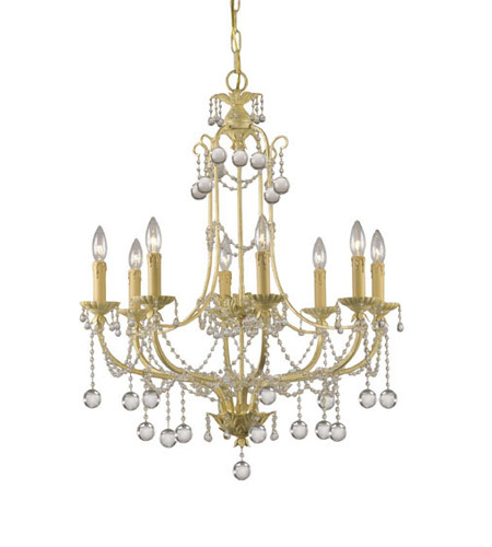 Crystorama Lighting Lena 8 Light Chandelier in Champagne & Murano Crystal 4608-CM photo