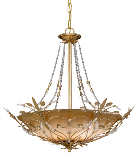 Crystorama 4700-GL Primrose 6 Light 25 inch Gold Leaf Chandelier Ceiling Light in Gold Leaf (GL) photo