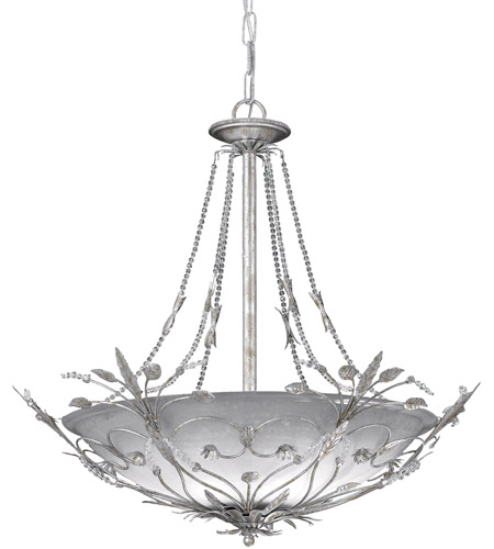 Crystorama Primrose 6 Light Chandelier in Silver Leaf 4700-SL photo