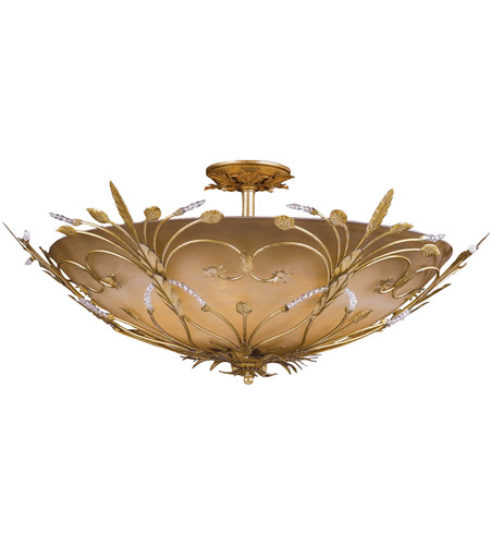Crystorama Primrose 6 Light Semi-Flush Mount in Gold Leaf 4705-GL photo