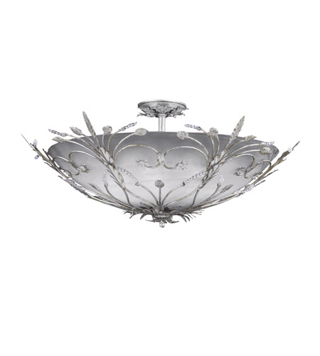 Crystorama Primrose 6 Light Semi Flush Mount in Silver Leaf 4705-SL photo