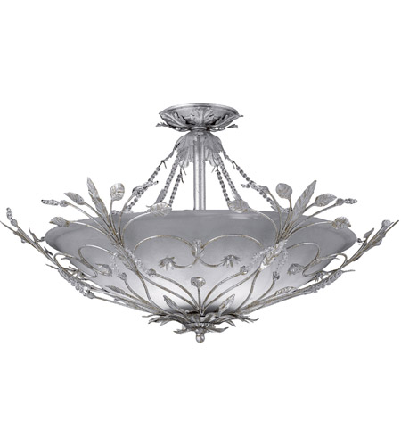 Crystorama 4707-SL Primrose 6 Light 25 inch Silver Leaf Semi Flush Mount Ceiling Light in Silver Leaf (SL) photo