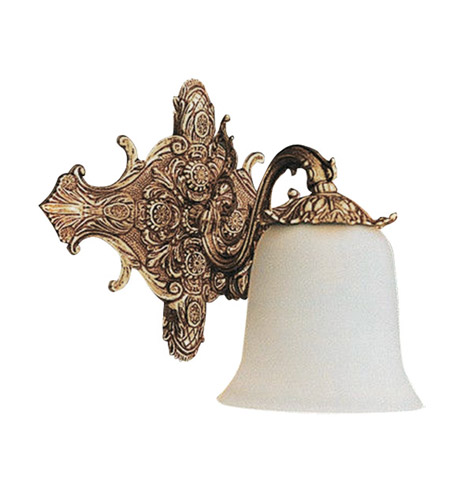 Crystorama Baroque 1 Light Bath Vanity in Antique Brass 471-AB photo