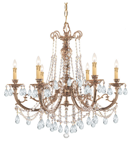 Crystorama 476-OB-CL-SAQ Etta 6 Light 28 inch Olde Brass Chandelier Ceiling Light photo