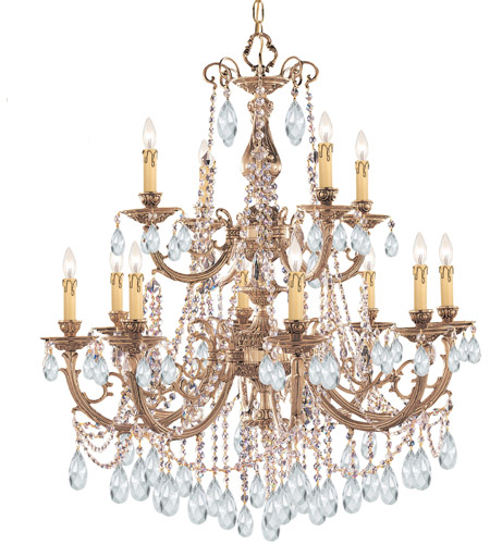 Crystorama 479-OB-CL-MWP Etta 12 Light 32 inch Olde Brass Chandelier Ceiling Light in Clear Hand Cut photo
