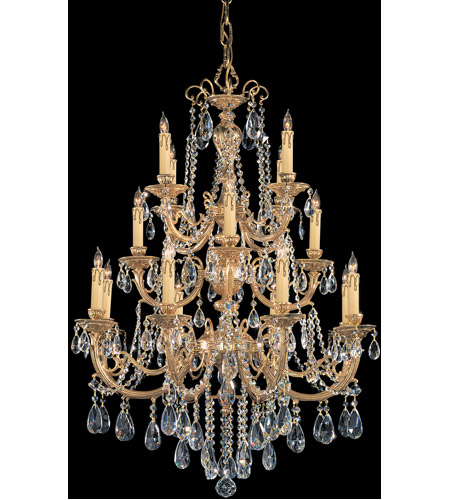 Crystorama 480-OB-CL-S Etta 16 Light 36 inch Olde Brass Chandelier Ceiling Light in Clear Swarovski Strass photo