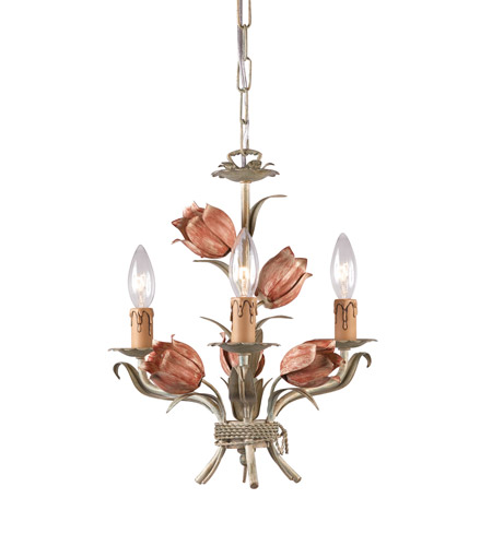 Crystorama Southport 3 Light Mini Chandelier in Sage/Rose 4803-SR photo