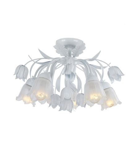 Crystorama Southport 5 Light Semi-Flush Mount in Wet White 4810-WW photo