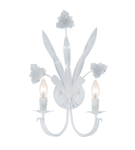 Crystorama 4812-WW Southport 2 Light 11 inch Wet White Wall Sconce Wall Light in Wet White (WW) photo