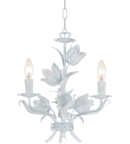 Crystorama 4813-WW Southport 3 Light 14 inch Wet White Mini Chandelier Ceiling Light photo