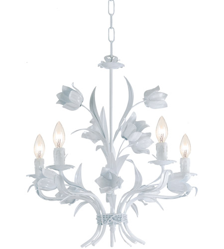 Crystorama 4815-WW Southport 5 Light 20 inch Wet White Chandelier Ceiling Light photo