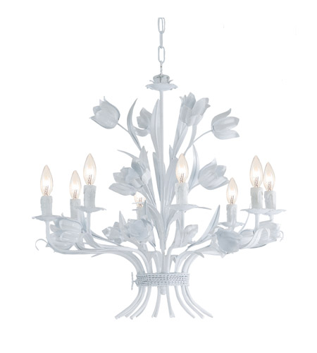 Crystorama 4818-WW Southport 8 Light 24 inch Wet White Chandelier Ceiling Light in Wet White (WW) photo