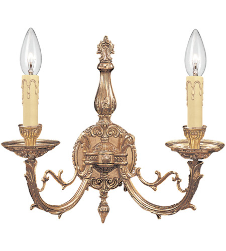 Crystorama Etta 2 Light Wall Sconce in Olde Brass 482-OB photo