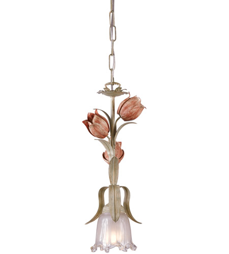 Crystorama 4821-SR Southport 1 Light 6 inch Sage/Rose Pendant Ceiling Light photo