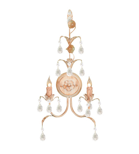 Crystorama 4902-CM Athena 2 Light 12 inch Champagne Wall Sconce Wall Light photo