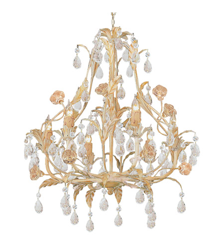Crystorama Athena 6 Light Chandelier in Champagne 4906-CM photo