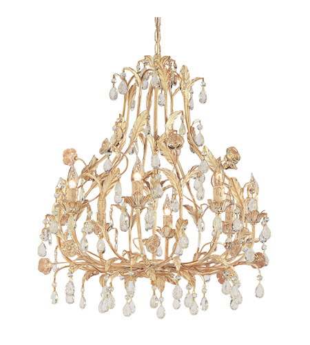 Crystorama Athena 8 Light Chandelier in Champagne 4908-CM photo