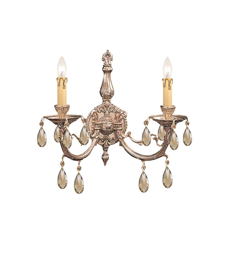Crystorama Etta 2 Light Wall Sconce in Olde Brass 492-OB-GTS photo