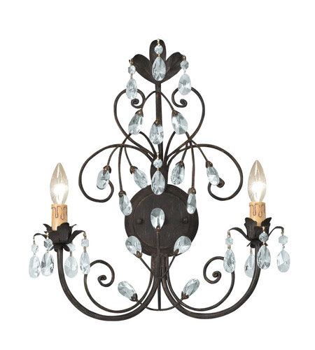 Crystorama 4922-DR Victoria 2 Light 15 inch Dark Rust Wall Sconce Wall Light in Dark Rust (DR) photo