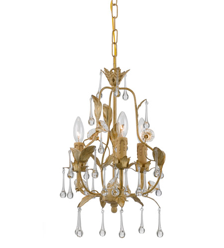 Crystorama Paris Flea Market 3 Light Mini Chandelier in Champagne 4933-CM photo