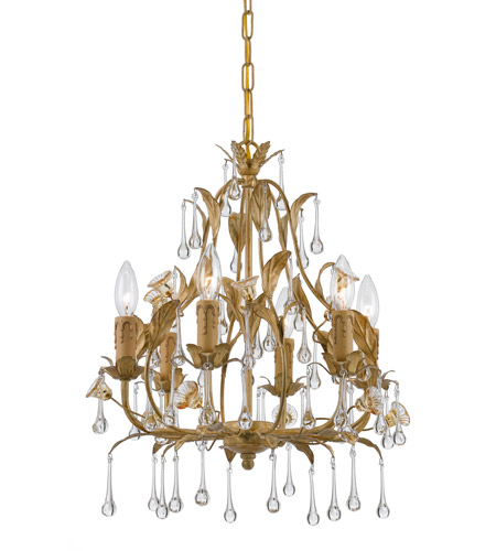 Crystorama Paris Flea Market 6 Light Mini Chandelier in Champagne 4936-CM photo