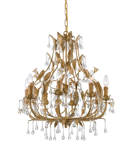 Crystorama Paris Flea Market 8 Light Chandelier in Champagne 4938-CM photo