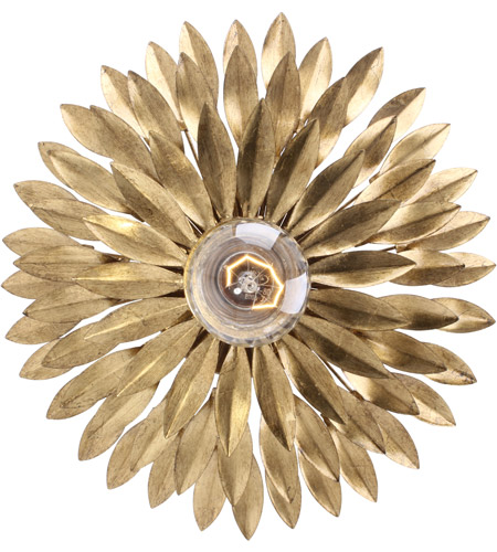 Crystorama 500-GA Broche 1 Light 11 inch Antique Gold Wall Sconce Wall Light in Antique Gold (GA) photo