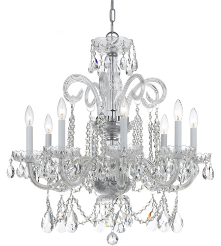Crystorama Traditional Crystal 8 Light Chandelier in Polished Chrome, Swarovski Elements 5008-CH-CL-S photo