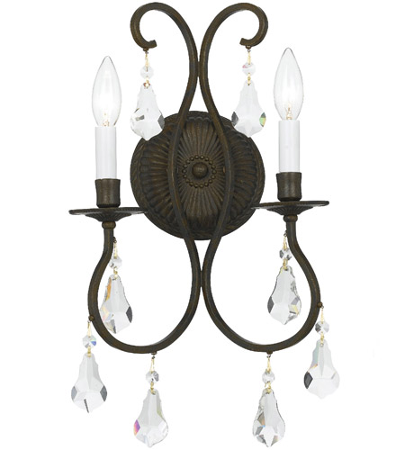 Crystorama Ashton 2 Light Wall Sconce in English Bronze 5012-EB-CL-MWP photo