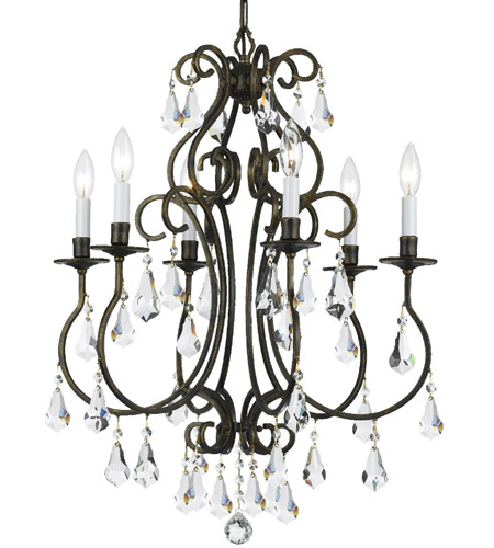 Crystorama 5016-EB-CL-MWP Ashton 6 Light 22 inch English Bronze Chandelier Ceiling Light in English Bronze (EB) photo