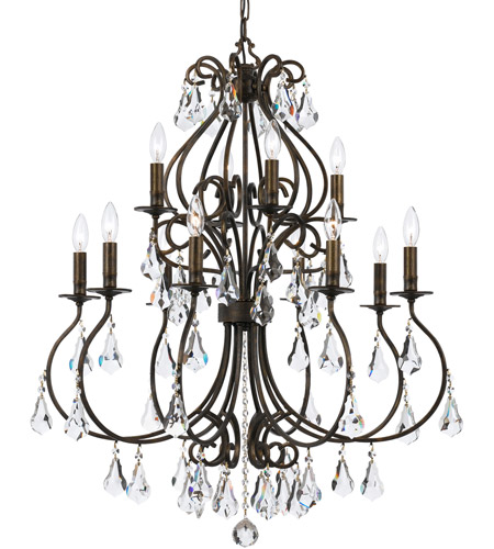 Crystorama 5017-EB-CL-MWP Ashton 12 Light 32 inch English Bronze Chandelier Ceiling Light in English Bronze (EB) photo