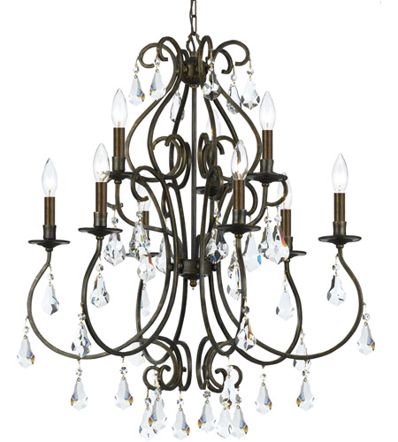 Crystorama Ashton 9 Light Chandelier in English Bronze 5019-EB-CL-MWP photo