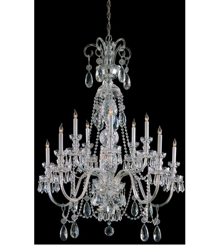 Crystorama 5020-CH-CL-S Traditional Crystal 10 Light 36 inch Polished Chrome Chandelier Ceiling Light in Swarovski Elements (S), Polished Chrome (CH) photo