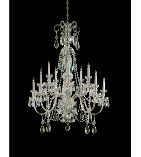 Crystorama 5020-PB-CL-MWP Traditional Crystal 10 Light 36 inch Polished Brass Chandelier Ceiling Light in Hand Cut, Polished Brass (PB) photo