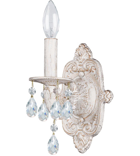 Crystorama Sutton 1 Light Wall Sconce in Antique White 5021-AW-CL-MWP photo