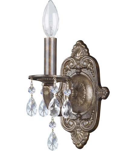 Crystorama 5021-VB-CL-MWP Paris Market 1 Light 6 inch Venetian Bronze Wall Mount Wall Light in Clear Crystal (CL), Vibrant Bronze (VZ), Clear Hand Cut, 5.5-in Width photo