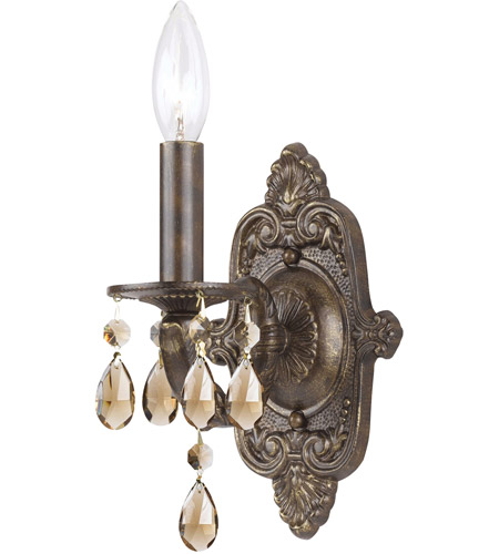 Crystorama Sutton 1 Light Wall Sconce in Venetian Bronze 5021-VB-GTS photo