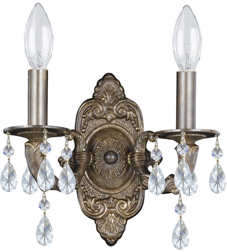 Crystorama Sutton 2 Light Wall Sconce in Venetian Bronze 5022-VB-CL-SAQ photo