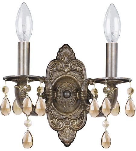 Crystorama 5022-VB-GT-MWP Paris Market 2 Light 11 inch Venetian Bronze Wall Sconce Wall Light photo